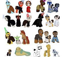 Star Wars Ponies by Qemma