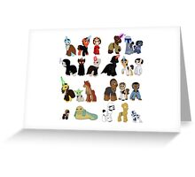 Star Wars Ponies Greeting Card