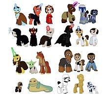 Star Wars Ponies Photographic Print