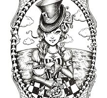 'We're all mad here' Inked  by Isobel Von Finklestein