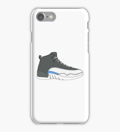 "Air Jordan XII (12) ""Wolf Grey"" iPhone Case/Skin"