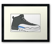 "Air Jordan XII (12) ""Wolf Grey"" Framed Print"