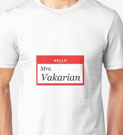 Hello, My Name is Mrs. Vakarian Unisex T-Shirt