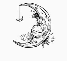 Chimpanzee Crescent Moon With Banana Unisex T-Shirt