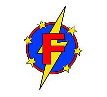 My Cute Little Super Hero - Letter F Photographic Print