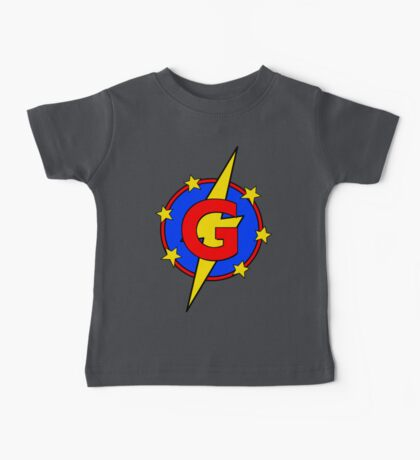 My Cute Little Super Hero - Letter G Baby Tee