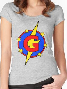 My Cute Little Super Hero - Letter G Women's Fitted Scoop T-Shirt