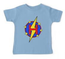 My Cute Little Super Hero - Letter H Baby Tee