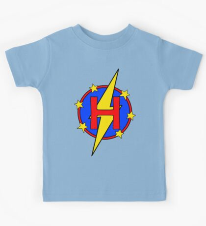 My Cute Little Super Hero - Letter H Kids Tee