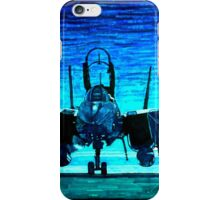 moonlight mission-an f14 tomcat fighter pilot walks to his plane iPhone Case/Skin