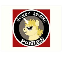 Hockey Ruining Ponies: Uni-Kane Art Print