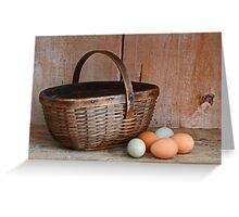 My Grandma's Egg Basket Greeting Card