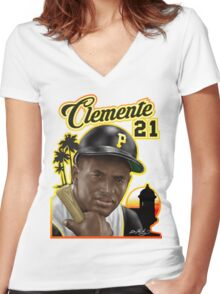 CLEMENTE 21 Women's Fitted V-Neck T-Shirt