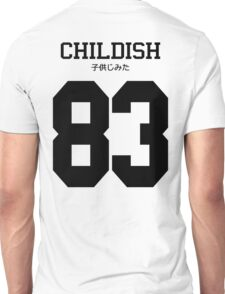 Childish Jersey: Black Font Unisex T-Shirt