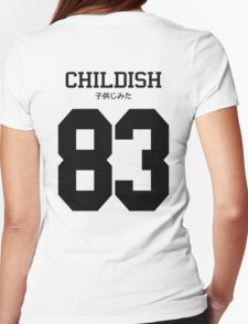 Childish Jersey: Black Font Womens Fitted T-Shirt