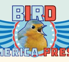 BIRD for AMERICA PRESDIENT photo of me (hansome) stickert Sticker