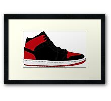 "Air Jordan I (1) ""Bred"" Framed Print"