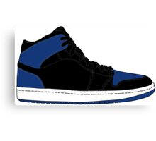 "Air Jordan I (1) ""Royal Blue"" Canvas Print"