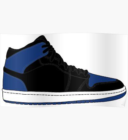"Air Jordan I (1) ""Royal Blue"" Poster"