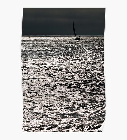 Sailing on silver Poster