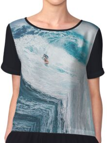 Surfing A Flat Earth Chiffon Top