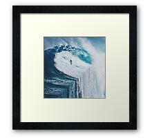 Surfing A Flat Earth Framed Print