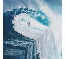 Surfing A Flat Earth Photographic Print
