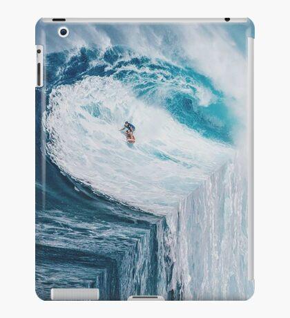 Surfing A Flat Earth iPad Case/Skin