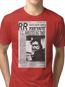 GG Allin Newspaper Arrested Tri-blend T-Shirt