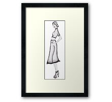 monika-sketches Framed Print