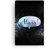 aliens ! Canvas Print