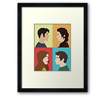 Scott, Allison, Lydia + Stiles Framed Print
