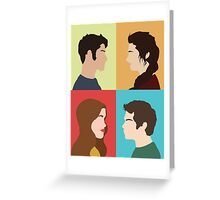 Scott, Allison, Lydia + Stiles Greeting Card