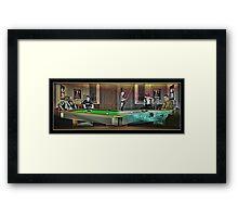 Hustlers - Mosconi Framed Print