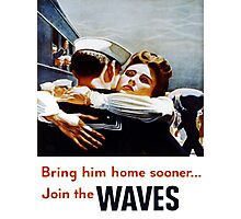 Vintage poster - Waves Photographic Print