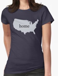 USA Home Womens Fitted T-Shirt