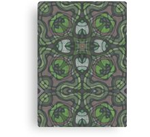 Stained Glass Green Canvas Print