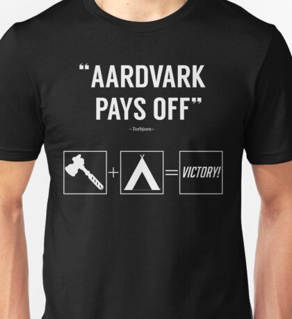 Camping Aardvark Pays Off Unisex T-Shirt