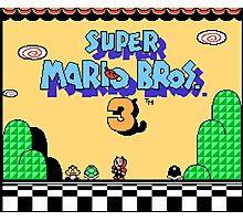super mario bros 3 title screen Photographic Print