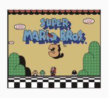 super mario bros 3 title screen One Piece - Short Sleeve