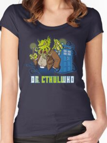 Dr. Cthulwho Women's Fitted Scoop T-Shirt