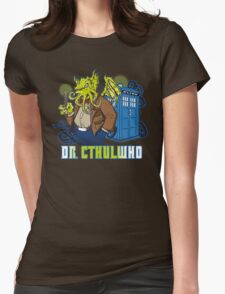 Dr. Cthulwho Womens Fitted T-Shirt