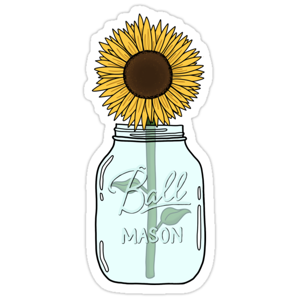 Quot Sunflower Quot Stickers By Katielavigna Redbubble