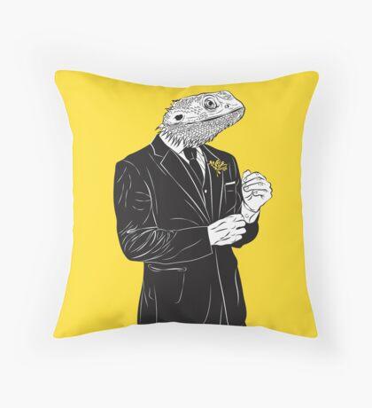 Dapper Lizard Throw Pillow
