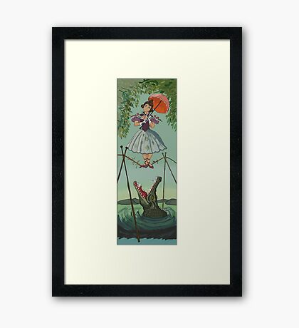 Haunted Mansion Tightrope Girl  Framed Print
