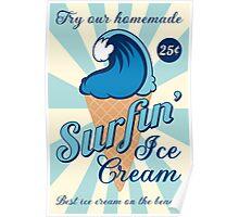 Surfin' Ice Cream Poster