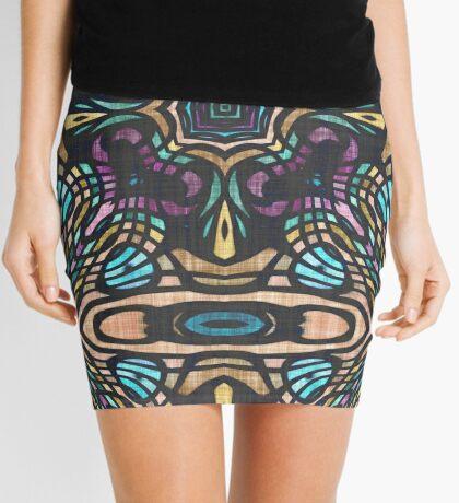 Stained Glass Geometric Mini Skirt