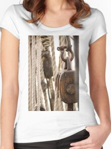 Block and Tackle Women's Fitted Scoop T-Shirt