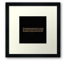 """Out greatest... """"Thomas Edison"""" Inspirational Quote Framed Print"""