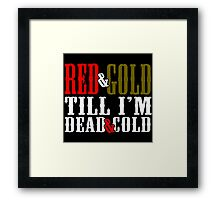 Red and Golg Dead and Cold Framed Print